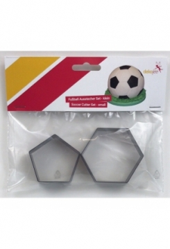 Fussball Ausstecher Set klein 2 teilig