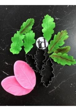 Blätter 3er mit Stempel