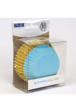 Muffin blau mit Gold Maxi