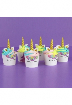 Einhorn Muffin 6er Set