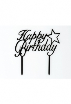 Cake Topper Happy Birthday mit Stern