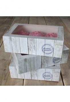 06 Cupcakes Schachtel Holz 3er Set
