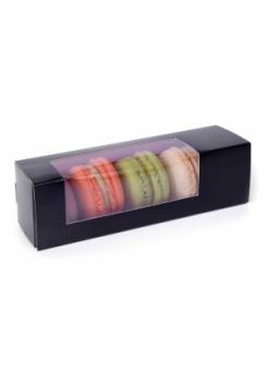Macarons Schachteln small 5er Set schw..