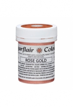 Sugarflair Cocolate Paint Rose Gold 35g