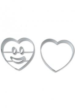 Lachendes Herz Ausstecher mit Unterteil