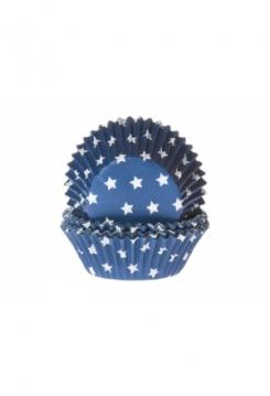 Muffin Sterne blau Maxi