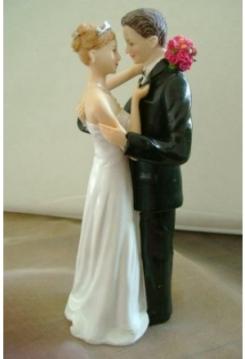 Brautpaar umarmend 17cm