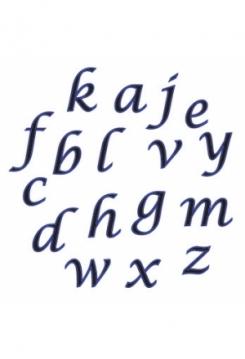 Buchstaben klein Schreibsch.