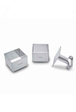 Dessertform Quadrat Set mit Stempel