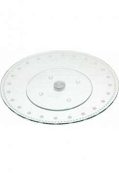 Drehbare Tortenplatte Glas 30cm