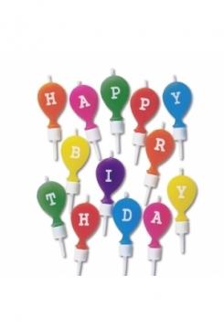 Kerzen Set Happy Birthday