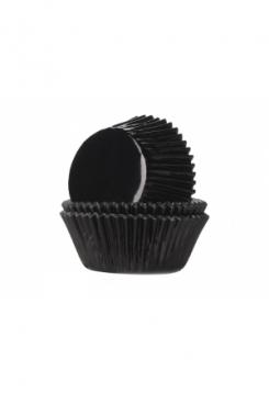 Muffin GLANZ schwarz Maxi 24Stk