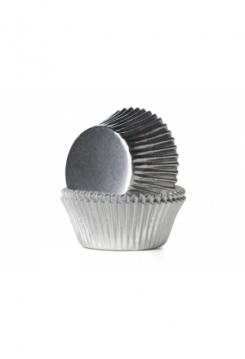 Muffin GLANZ silber Maxi 24 Stk.