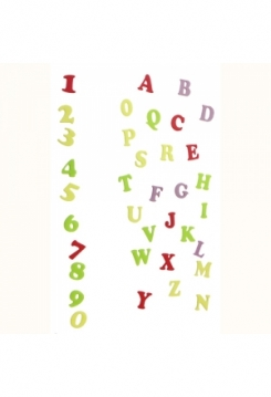 Buchstaben& Zahlen Deco
