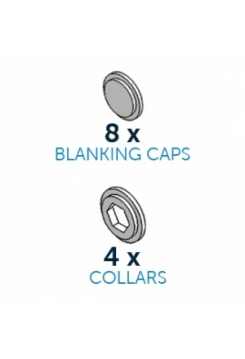 CakeFrame Blanking Caps & Collars 12 S..