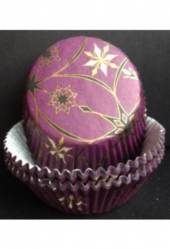 Muffin Sterne violett 60 Stk.