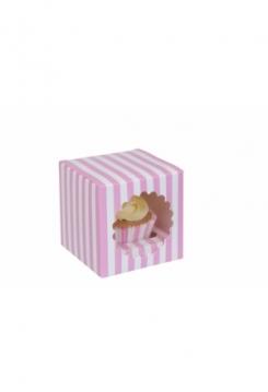 01 Cupcakes Schachtel 10er Set gestreift