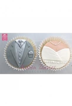 Karen Davies Hochzeitspaar Muffin