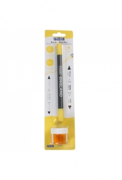 Speisefarben Stift & Pinsel gelb