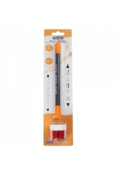 Speisefarben Stift & Pinsel orange