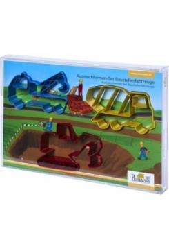 Baustellenfahrzeug Ausstecher Set 3teilig