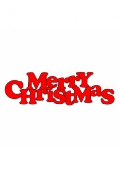 Merry Christmas Schriftzug 16x6cm