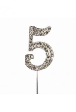 Cake Topper Diamant Nr.5