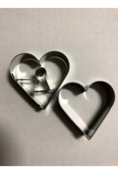 Linzer Herz Schlüsselloch 2 teilig 4,5cm