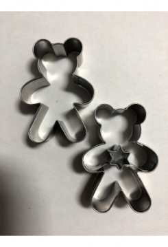 Linzer Teddy mit Stern 2 teilig 5,2x3,7cm