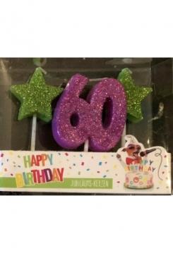 Kerze 60 Glitter violett