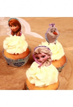 Cupcakes Toppers Frozen Star 24 Stk.