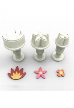 Blumen Mini mit Auswerfer 3 Stk.