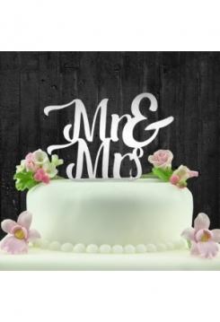 Cake Topper Spiegel Mr&Mrs