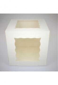 Tortenschachtel 25x25x25cm mit Fenster 2er Set