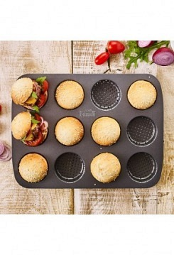 Mini Burger antihaft 12er