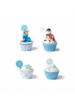 Cupcakes Wrappers Frozen Star 12 Stk.