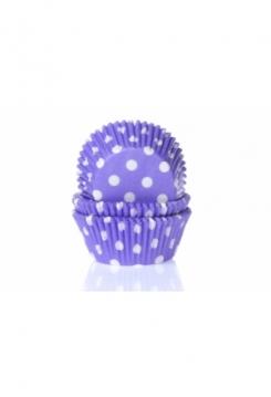 Muffin violett mit Punkten Maxi 500 Stk.