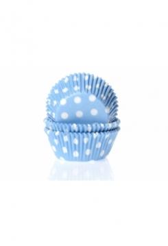 Muffin blau mit Punkten Maxi 500 Stk.