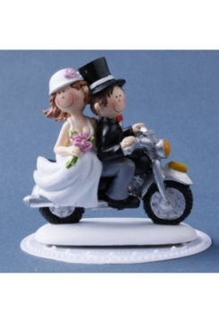 Motorrad Hochzeitspaar