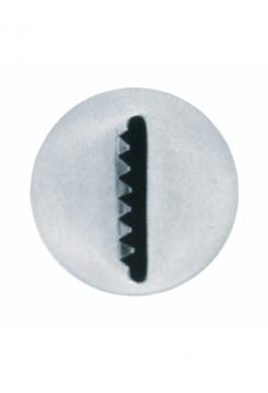 Sternbandtülle 8mm glatt/gezackt